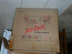 Super RARE Kromex Turquoise  Pic-Kwik Turn-table
