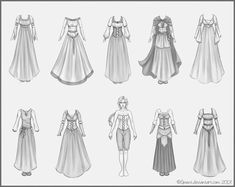 how to draw witchy victorian dress on person - Google Search