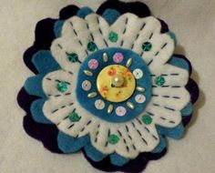 Just finished decorating the flower brooch