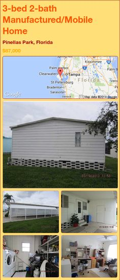 3-bed 2-bath Manufactured/Mobile Home in Pinellas Park, Florida ►$87,000.00 #PropertyForSale #RealEstate #Florida http://florida-magic.com/properties/85119-manufactured-mobile-home-for-sale-in-pinellas-park-florida-with-3-bedroom-2-bathroom