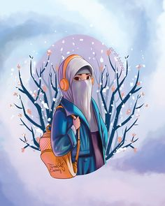 niqab girl on Behance Girl Cartoon, Cartoon Art, Girly M Instagram, Hijab Drawing, Islamic Cartoon, Deer Illustration, Anime Muslim, Hijab Cartoon, Islamic Girl