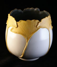 Ginkgo vase--Pratt Clay Studio. Pottery/Ceramics