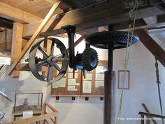 Ein Besuch in der Stiftsmühle in #Aurich.  So wurde mit #Windkraft Korn zu Mehl gemahlen.