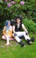Gajeel and Levy - Q-con by nikkinova123