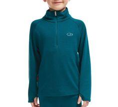 Amazon.com: Icebreaker Kid's Compass Long Sleeve Half Zip, Rocket/Monsoon, Size 12: Clothing