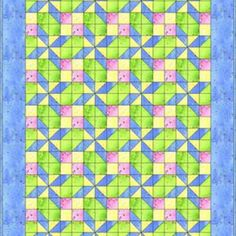 Learn to Make a Pretty In Pastels Baby Quilt Using This Free Pattern