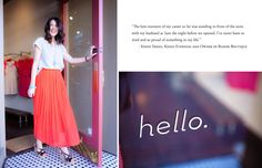 """""""The best moment of my career so far was standing in front of the store with my husband at 2 am the night before we opened. I've never been so tired and so proud of something in my life.""""-Kendi Skeen of Kendi Everyday and owner of Bloom, a Dallas boutique."""