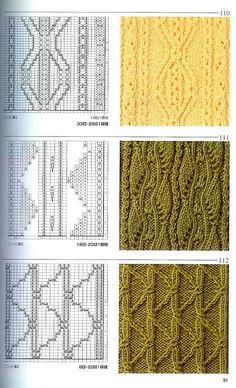Японская книга узоров (спицы) 110