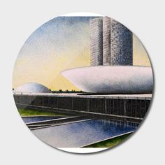 Discover «Congresso Nacional», Limited Edition Disk Print by Marcos André…