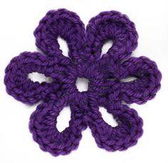 Six-Petal Flower Motif ~ free pattern, SEEMS SIMPLE.....