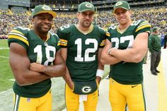 Green Bay's dynamic trio: Randall Cobb, A-Rod (Aaron Rodgers) and Jordy Nelson aka white lightning.