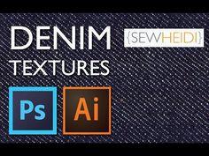 ▶ Create a Denim Texture Swatch in Photoshop & Illustrator - YouTube