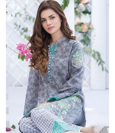 Alkaram Two Piece Embroidered Lawn Collection 2016 3A