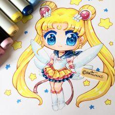 Eternal Sailor Moon ~ I always draw Usagi when I'm feeling down, it cheers me up #fanart