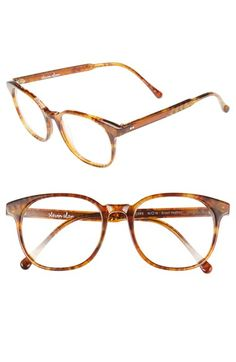 584c55ac52f Depp Oversized Round Clear Glasses - Tortoise non-prescription clear ...