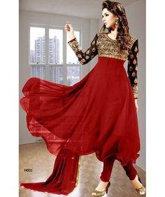 Indian Pakistani Ethnic Anarkali Salwar Kameez Designer Suit Bollywood Dress 2 #sunrisefashions #WOMENETHNICWEARBOLLYWOODDESIGNERSALWARKAMEEZ