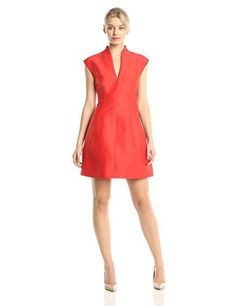 HALSTON HERITAGE Women's Silk Faille Cap Sleeve Fit and Flare Cocktail Dress, Lipstick, 6 Halston Heritage http://www.amazon.com/dp/B00O919G6U/ref=cm_sw_r_pi_dp_O6kMub02D614M