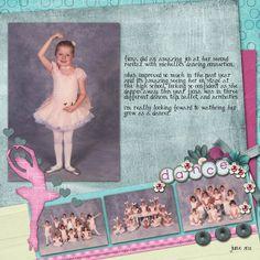 dance scrapbook page