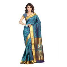 blue kanchipuram saree  NEWJP8106RMV
