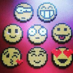 Emoticons hama beads by buegelperlen_