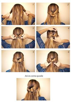 Seis pasos para crear un peinado sencillo.