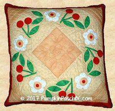 Cherry Wreath Pillow PPP007-EIN