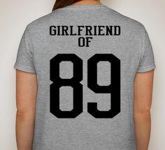 268b9ba8ac6 Items similar to Sports Girlfriend of   Customized t-shirt Proud Football