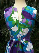 Vintage 1960's -70's malia of honolulu hawaiian hostess patio maxi dress