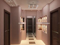 Interior of hallway in coffee colors