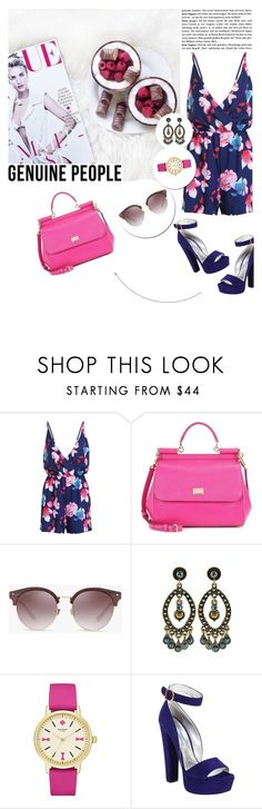 """""""Contest-spring time"""" by mell-2405 ❤ liked on Polyvore featuring Dolce&Gabbana, Kate Spade and Prada"""