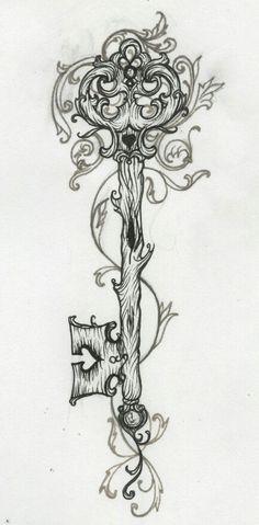 I love the nature-like feel of this key tattoo tattoo designs phoenix Guy Le - floral Tattoos Small Heart Tattoo Tattoos designs Tatoo Henna, I Tattoo, Tattoo Neck, Sleeve Tattoos, Tattoo Pain, Wrist Tattoo, Back Forearm Tattoos, Lower Back Tattoo, Swirly Tattoo