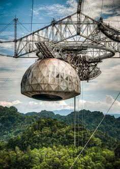 Arecibo Radio Telescope Photograph