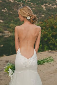 Daring completely backless Wedding Dresse