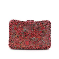 Floral Crytsal Clutch / Evening Bags / Fashion Handbags / designer purses