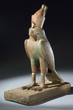 Bronze Horus votive statue, BC, includes a hole at the base of the tail to slip a mummy through. Ancient Egyptian Women, Egyptian Cats, Children Images, Luxor, Anthropology, Archaeology, Mythology, Lion Sculpture, Birds