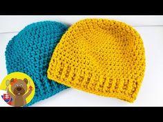 Winter hat knitting, For Beginners, Beanie with a Pattern, Winter hat crocheting Knitting Videos, Crochet Videos, Knitting For Beginners, Loom Knitting, Knitting Patterns, Crochet Patterns, Bonnet Crochet, Crochet Diy, Chunky Crochet