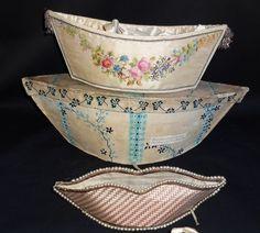 Regency sewing/needlework baskets. Mendes, dealer in antique lace, stock number H51.1