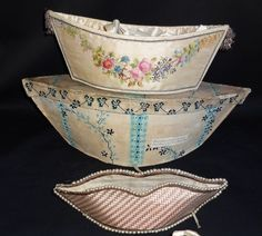 Regency sewing/needlework baskets