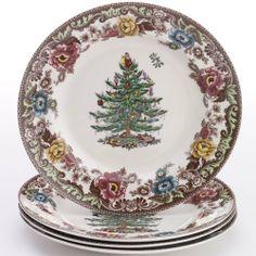 Spode Woodland Grove Christmas Tree Dinner Plates, Set of 4 by Spode. $74.45