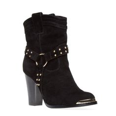 This is such a great fitting boot! comes in brown, less than $50.00 and looks great with jeans.