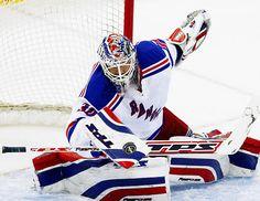 Henrik Lundqvist, the goalie of the New York Rangers!