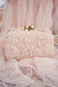 Frilly, lacy, some pearls and a lot of pink!
