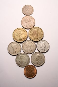 10 Vintage Great Britain Coins 1930s to 1970s by FoundAround, $7.00