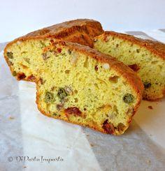 Di pasta impasta: Cake salato di farro con pomodori secchi, olive e capperi