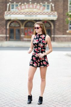 Forever21 Red Romper - click to see description of the full outfit!