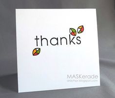 Card Concept 19 - Thanks! by Ardyth - Cards and Paper Crafts at Splitcoaststampers