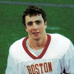 Welles Crowther.  Boston College grad.  A hero of 9/11, he was at his desk working at Sandler O'Neill in the south tower when the plane hit.  He was making his way down when he found a group of injured people waiting to take an elevator.  He led them to safety via the stairs and then went back upstairs to save even more people.