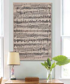 Look at this #zulilyfind! Sheet Music 'Ode to Joy' Canvas by iCanvasART #zulilyfinds