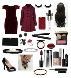 """""""dinner date night w mans ❤️"""" by fangirlscansmd ❤ liked on Polyvore featuring Nicholas, Journee Collection, Vanessa Mooney, Bobbi Brown Cosmetics, Jimmy Choo, Mark Broumand, BaByliss, Kendra Scott, NARS Cosmetics and Blue Nile"""