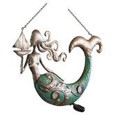 Found it at Wayfair - Indoor/Outdoor Solar Led Sculptural Metal Mermaid Lantern Wall Décor